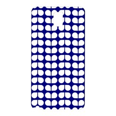 Blue And White Leaf Pattern Samsung Galaxy Note 3 N9005 Hardshell Back Case