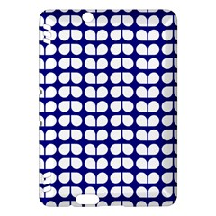 Blue And White Leaf Pattern Kindle Fire Hdx Hardshell Case