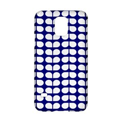 Blue And White Leaf Pattern Samsung Galaxy S5 Hardshell Case