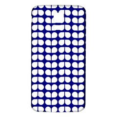 Blue And White Leaf Pattern Samsung Galaxy S5 Back Case (White)