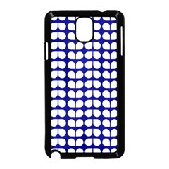 Blue And White Leaf Pattern Samsung Galaxy Note 3 Neo Hardshell Case (Black)