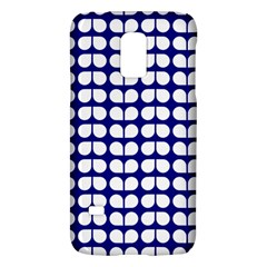 Blue And White Leaf Pattern Samsung Galaxy S5 Mini Hardshell Case