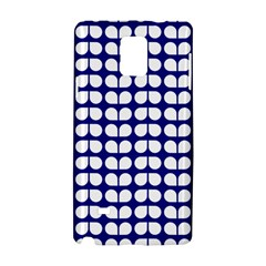 Blue And White Leaf Pattern Samsung Galaxy Note 4 Hardshell Case