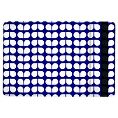 Blue And White Leaf Pattern Apple Ipad Air 2 Flip Case
