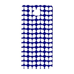 Blue And White Leaf Pattern Samsung Galaxy Alpha Hardshell Back Case