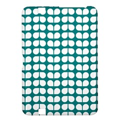 Teal And White Leaf Pattern Kindle Fire Hd 8 9  Hardshell Case