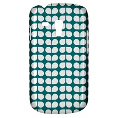 Teal And White Leaf Pattern Samsung Galaxy S3 Mini I8190 Hardshell Case