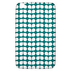 Teal And White Leaf Pattern Samsung Galaxy Tab 3 (8 ) T3100 Hardshell Case