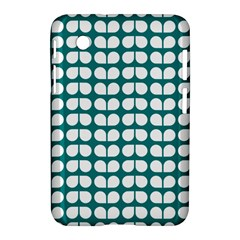Teal And White Leaf Pattern Samsung Galaxy Tab 2 (7 ) P3100 Hardshell Case