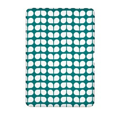 Teal And White Leaf Pattern Samsung Galaxy Tab 2 (10.1 ) P5100 Hardshell Case