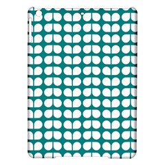 Teal And White Leaf Pattern Apple iPad Air Hardshell Case