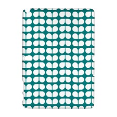 Teal And White Leaf Pattern Samsung Galaxy Note 10.1 (P600) Hardshell Case