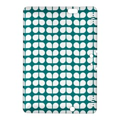 Teal And White Leaf Pattern Kindle Fire HDX 8.9  Hardshell Case