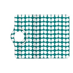 Teal And White Leaf Pattern Kindle Fire Hd (2013) Flip 360 Case