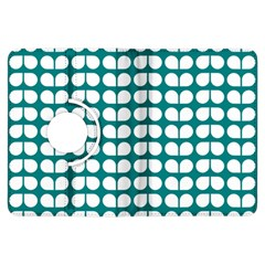 Teal And White Leaf Pattern Kindle Fire Hdx Flip 360 Case