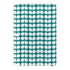 Teal And White Leaf Pattern Samsung Galaxy Tab Pro 10.1 Hardshell Case