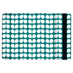 Teal And White Leaf Pattern Apple Ipad Air Flip Case