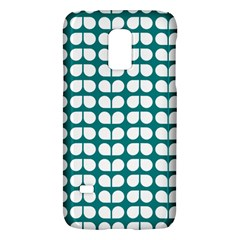 Teal And White Leaf Pattern Samsung Galaxy S5 Mini Hardshell Case