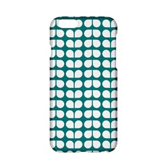 Teal And White Leaf Pattern Apple iPhone 6 Hardshell Case
