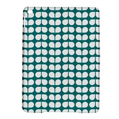 Teal And White Leaf Pattern Apple Ipad Air 2 Hardshell Case