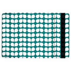 Teal And White Leaf Pattern Apple iPad Air 2 Flip Case