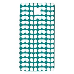 Teal And White Leaf Pattern Samsung Note 4 Hardshell Back Case