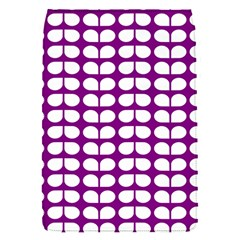 Purple And White Leaf Pattern Removable Flap Cover (small)