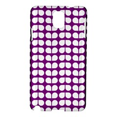 Purple And White Leaf Pattern Samsung Galaxy Note 3 N9005 Hardshell Case
