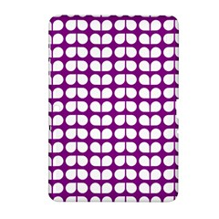 Purple And White Leaf Pattern Samsung Galaxy Tab 2 (10.1 ) P5100 Hardshell Case
