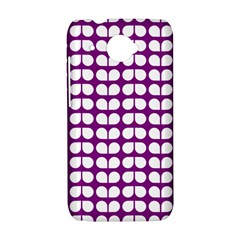 Purple And White Leaf Pattern HTC Desire 601 Hardshell Case