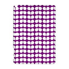 Purple And White Leaf Pattern Samsung Galaxy Note 10.1 (P600) Hardshell Case