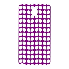 Purple And White Leaf Pattern Samsung Galaxy Note 3 N9005 Hardshell Back Case