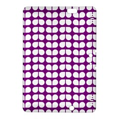 Purple And White Leaf Pattern Kindle Fire Hdx 8 9  Hardshell Case