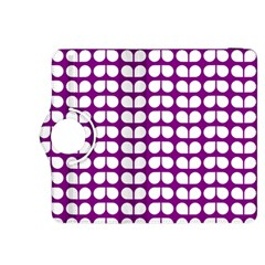 Purple And White Leaf Pattern Kindle Fire Hdx 8 9  Flip 360 Case