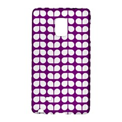 Purple And White Leaf Pattern Samsung Galaxy Note Edge Hardshell Case