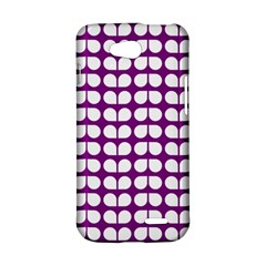 Purple And White Leaf Pattern LG L90 D410 Hardshell Case