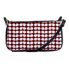 Red And White Leaf Pattern Evening Bag