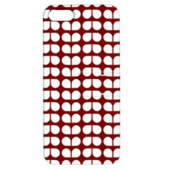 Red And White Leaf Pattern Apple Iphone 5 Hardshell Case With Stand