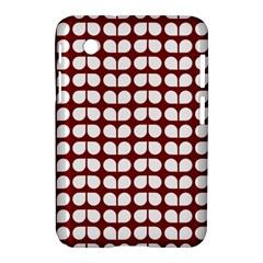 Red And White Leaf Pattern Samsung Galaxy Tab 2 (7 ) P3100 Hardshell Case