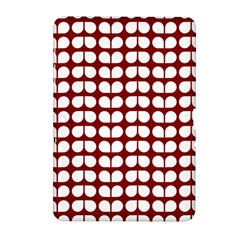 Red And White Leaf Pattern Samsung Galaxy Tab 2 (10.1 ) P5100 Hardshell Case