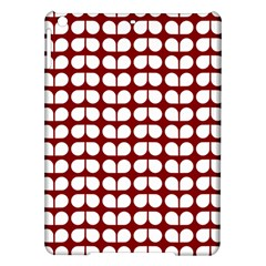 Red And White Leaf Pattern Apple Ipad Air Hardshell Case