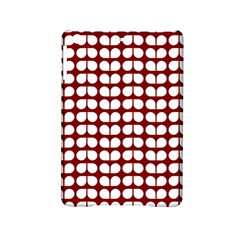 Red And White Leaf Pattern Apple iPad Mini 2 Hardshell Case