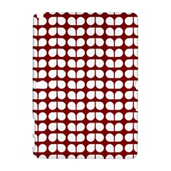 Red And White Leaf Pattern Samsung Galaxy Note 10.1 (P600) Hardshell Case