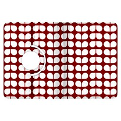 Red And White Leaf Pattern Kindle Fire HDX Flip 360 Case