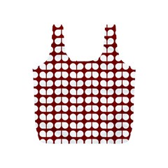 Red And White Leaf Pattern Reusable Bag (S)