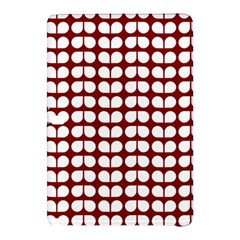 Red And White Leaf Pattern Samsung Galaxy Tab Pro 10.1 Hardshell Case