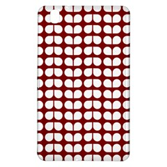 Red And White Leaf Pattern Samsung Galaxy Tab Pro 8 4 Hardshell Case
