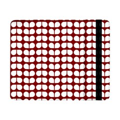 Red And White Leaf Pattern Samsung Galaxy Tab Pro 8.4  Flip Case