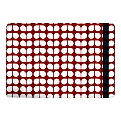 Red And White Leaf Pattern Samsung Galaxy Tab Pro 10.1  Flip Case