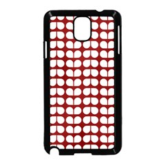 Red And White Leaf Pattern Samsung Galaxy Note 3 Neo Hardshell Case (Black)